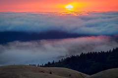 High Above (wuman88) Tags: sunset fog mt tam tamalpais marin sf california rolling