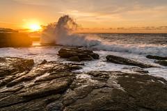 forever (Regis Lampert) Tags: huge wave maroubra australia sunrise rock smashed