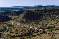 Abo Canyon Morning (thechief500) Tags: atsf abocanyon bnsf clovissubdivision imacon949scan railroads nm newmexico