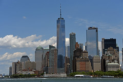 Picture Taken From The Staten Island Ferry Showing The Lower Manhattan Skyline Including One And Seven World Trade Center. Photo Taken Sunday June 25, 2017 (ses7) Tags: staten island ferry viewlower manhattan skyline