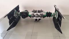 Jabba the Hutt's TIE Fighter - Front (Evilkirk) Tags: starwars lego jabba hutt tie fighter moc