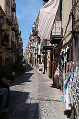 Narrow street, Cefalù (Badly Drawn Dad) Tags: corsoruggero geo:lat=3804052392 geo:lon=1402216904 cefalù geotagged ita italy sicily