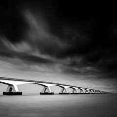 Zeeland Bridge (ArminFuchs) Tags: zeeland bridge architectur fineart bw holland netherlands