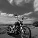 Bike & clouds in B&W