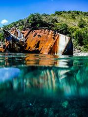 St. Kitts Shipwreck (nikkinicknicol) Tags: st kitts shipwreck ocean sea vessel caribbean reef island