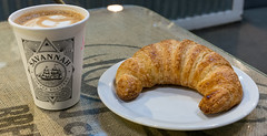 Coffee and Croissant (javajoba) Tags: georgia savannah savannahcoffeerosters coffee coffeeshop croissant atlanta ga usa