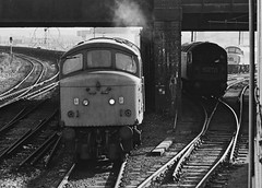 A Trio of Freights (Wulfruna Kid) Tags: 46049 class46 britishrailways southstaffordshireline wednesbury 1977