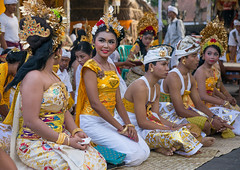 Teenagers in traditional costumes before a tooth filing ceremony taking place in a temple, Bali island, Canggu, Indonesia (Eric Lafforgue) Tags: adults asia asian bali bali2233 balinese beliefs canggu ceremony clothing colorimage customs dress family filing groupofpeople headdress headdresses headgears headwear hindu hinduism horizontal indigenouspeople indonesia indonesian indonesianculture men mesangih outdoors realpeople rite rites ritual spiritual toothfiling tradition traveldestination women womenonly baliisland