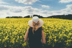 Girl And The Sea (der_peste) Tags: rape yellowrape fieldofrape summer rural person people woman women behind sky bluesky hat mood sonya7 sony a7ii sonya7ii sel35f14z 35mm f14