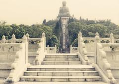 The Big Buddah At Tian Tan Temple, Hong Kong (Peter Greenway) Tags: buddah hongkong tiantan ngongping buddhistmonestery lantauisland taintan temple polin monestery bigbuddah polinmonestery buddhist