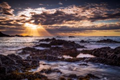 A Sign From Above? (Augmented Reality Images (Getty Contributor)) Tags: canon clouds colours dusk landscape leefilters longexposure morayfirth portknockie rocks scotland seaweed sunset water waves