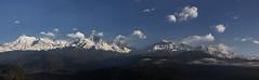 Annapurna Panorama (ashishkoirala) Tags: himalayas mountains clouds panorama himalayanpanorama sarangkot pokhara nepal