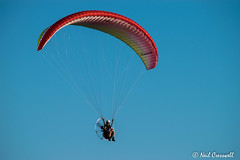 Up & Away (crezzy1976) Tags: nikon d3300 crezzy1976 photographybyneilcresswell wirral uk westkirby sport sky flying sunnyday bluesky powerdparaglider paraglider