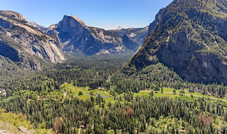 Half Dome and Yosemite Valley from Columbia Rock