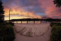 FISHEYE SUNSET (gaudreaultnormand) Tags: fisheye pastel sunset coucherdesoleil ciel paysage chicoutimi quebec saguenay port