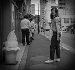 Posing #1 (Bill Morgan) Tags: fujifilm fuji x100f bw jpeg street tokyo toranomon