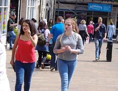 Finger Wagging (Bury Gardener) Tags: streetphotography street streetcandids candid candids people peoplewatching folks 2017 strangers burystedmunds suffolk eastanglia england uk cornhill