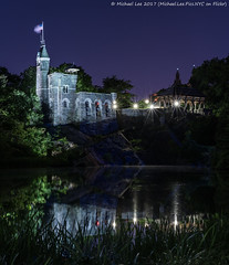 Belvedere Castle (20170603-DSC03435-Edit) (Michael.Lee.Pics.NYC) Tags: newyork centralpark belvederecastle turtlepond night longexposure cityscape architecture reflection sanremo sony a7rm2 nikon nikkor50mmaf18d