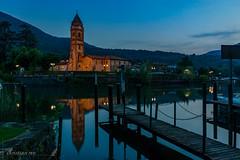 Chiesa Lavano (Italia) (christian.rey) Tags: chieas church église lavano italie italia italy tessin ticino caslano heurebleue bluehour sony alpha 77 1650 lagodilugano lacdelugano