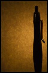 "Pen pal- Macro Mondays ""silhouette"" (Karon Elliott Edleson) Tags: macromondays pen silhouette macro macrosilhouette"
