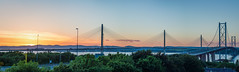 Sunset at South Queensferry (Gawollag) Tags: sunset panorama scotland bridge forth