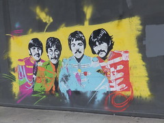 LIVERPOOL - LORD ST  - SGT PEPPER MURAL ON THE BOARDED UP FORMER BHS STORE - (PARK@ARTWORKS) Tags: gwuk liverpool sgt pepper lonelyheartsclubband beatles mural bhs