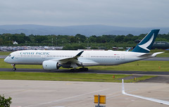 Cathay Pacific A350-941 B-LRL. 10/06/17. (Cameron Gaines) Tags: cn 072 first flew toulouse blagnac 17th february 2017 fwzna before being delivered cathay pacific 13th march the aircraft arrived hong kong following day 14th is part an order for 48 a350s 22 900s 26 longer 1000s all due be by 2021 current june airways airbus a350941 blrl taxiing juliet mike 1 cpa358 operate a350 5x weekly man 100617 avgeek aviation airliner airplane av8 egcc cheshire united kingdon china uk britain england runway taxiway