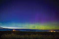 L'Anse aux Meadows National Historic Site, Western (Newfoundland and Labrador Tourism) Tags: northern lights green blue sky stars history lanse aux meadows parks culture park western national historic historical site canada unesco world nothern peninsula pen norse viking vikings
