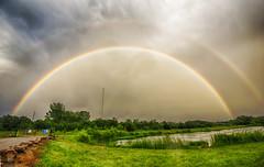 Moistened colors (Kansas Poetry (Patrick)) Tags: rainbow wetlands pamdawsonnaturepark lawrencekansas kansas sky color colour patrickemerson patricklovesnancy