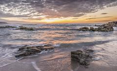 Sunset at Repibelo beach (GC - Photography) Tags: beach sea water ocean coast playaderepibelo repibelobeach atardecer sunset rocas rocks sun sol nubes clouds nikon d500 gcphotography arteixo lacoruña galicia españa spain repibelo