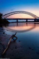 Runcorn Bridge (andyyoung37) Tags: manchestershipcanal runcornbridge waterreflections driftwood rivermersey sunset runcorn england unitedkingdom gb