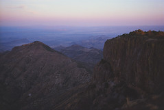South Rim from SW4 (mountain of clouds) Tags: fujigw690ii fujigw690 portra400 kodak 6x9 bigbendnationalpark bigbend westtexas 120film