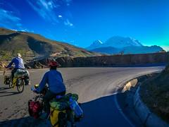 Nici and Amanda taking in their first peek at Mt. Huascaran, Peru's highest mountain at 6768 meters.