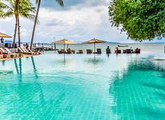 Coconut Island Resort Pool (Merrillie) Tags: holidays resort sunrise water coconutisland phangngabay clouds phuket beach travel swimmingpool andamansea pool relaxing island kohmaphrao waterscape landscape thevillagecoconutisland sea thailand