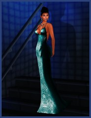 Ghee @ The Darkness Event - Beaded Sheath Gown (parisevermore) Tags: ghee