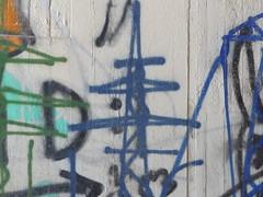 Farben (gittermasttyp2008) Tags: blau collor wandern wand strommasten strommast strom energie electricitytower energy germany graffiti graffitistrommast powertower powerpole power pylon powerpylon powerline pole autobahn unterführung tunnel highway lage