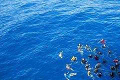 170623-N-AF077-077 (CNE CNA C6F) Tags: gwhb aircraftcarrier 5thfleet georgehwbush swimcall jump water morale ussgeorgehwbush na usa