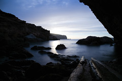 At the bottom of the ladder (Michelle Tuttle) Tags: ibiza cove longexposure motion blur secret europe peaceful sea