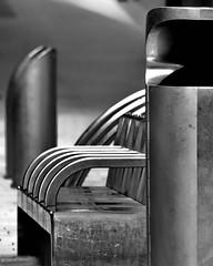 street furniture (Harry Halibut) Tags: 2017©andrewpettigrew allrightsreserved contrastbysoftwarelaziness noiretblanc blackwhite blancoynegro blanc weiss noire schwatz bw zwart wit bianco nero branco preto imagesofsheffield images sheffieldarchitecture sheffieldbuildings colourbysoftwarelaziness south yorkshire sheffield curved corners sheff1706252211 seats litter bin waste stainless steel slate themoor street furniture