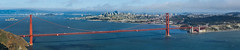 pacific grand span (pbo31) Tags: sanfrancisco california nikon d810 color bayarea july 2017 summer pbo31 boury goldengatebridge goldengatenationalrecreationarea bridge 101 marincounty northbay over view panoramic large stitched panorama bay pacific span skyline city hawkhill marinheadlands ocean baybridge blue sky fog grand