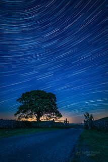 Star trails in The Dales