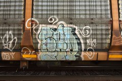 EZO (TheGraffitiHunters) Tags: graffiti graff spray paint street art colorful freight train tracks rolling canvas painted steeel autoracks racks ezo ribbet