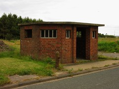 Cambois, Northumberland (aj.gardner) Tags: bus busstop busshelter disused cambois camboiscolliery busservice former hydrant firehydrant roadside northumberland redbrick building structure shelter bikeride cycleroute coastandcastles ncn1 built solid sturdy