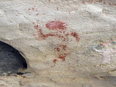 Pictograph at Monarch Ruins (Ron Wolf) Tags: anasazi anthropology archaeology bearsearsnationalmonument combridge nationalpark nativeamerican puebloan anthromorph anthropomorph pictograph utah