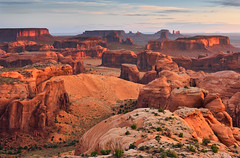Creation Monument Valley (David Shield Photography) Tags: monumentvalley tribalpark arizona southwest landscape panorama redrocks sunrise color light nikon navajonation huntsmesa