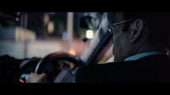 Taxi to Harajuku, Tokyo, Japan (emrecift) Tags: candid portrait cab taxi driver night low light street photography tokyo japan cinematic 2391 anamorphic cinemorph filter grain sony a7 alpha legacy lens glass canon new fd 50mm f14 emrecift