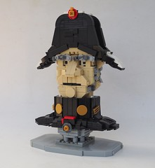 Inspector Javert (W. Navarre) Tags: lego les miserables movie 1978 inspector javert book character bust eyebrows eye sideburns hat