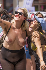 DUN_7854r (crobart) Tags: toronto pride dyke march pretty girls boobs tits breasts heavy hangers nude naked nipples