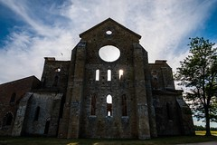 Abbey of San Galgano (lucafabbricesena) Tags: sangalgano abbey tuscany siena chiusdino italy broken withoutroof church sunset old building architecture medieval spring