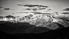 The Light of the early Morning... (Ody on the mount) Tags: anlässe berge em5 filmkorn himmel licht mzuiko75300 morgenlicht omd urlaub wolken bw monochrome sw österreich